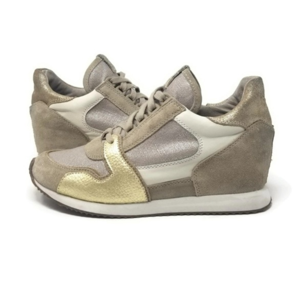 Ash Shoes - ASH Dean Wedge Sneakers Metallic Clay/Silver 8.5/9